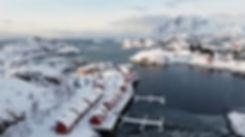 Norvège - Nyvågar Rorbuhotel - drone
