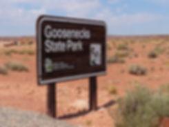 Goosenecks State Park panneau