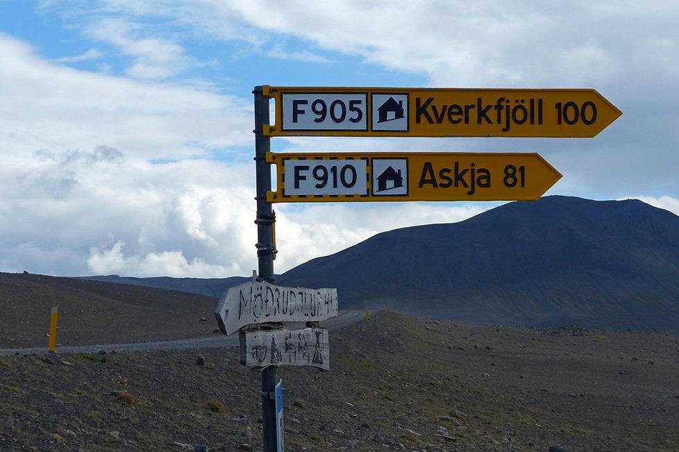 Kverkfjöll F905 Askja F910 panneau