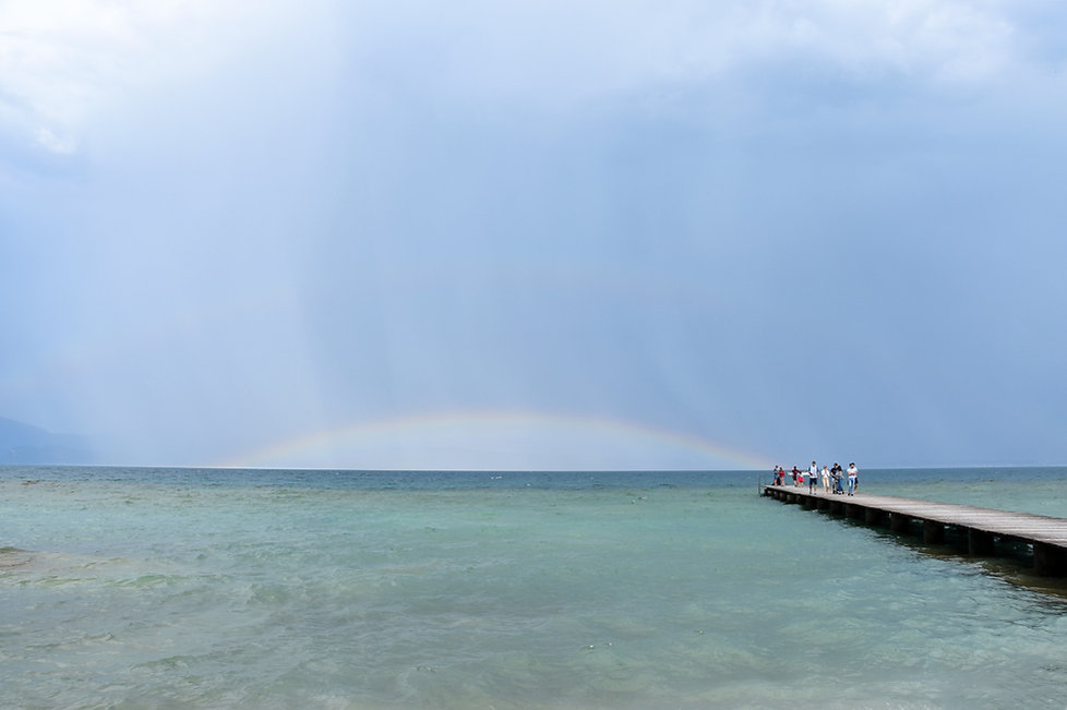 Lac de Garde Sirmione arc en ciel