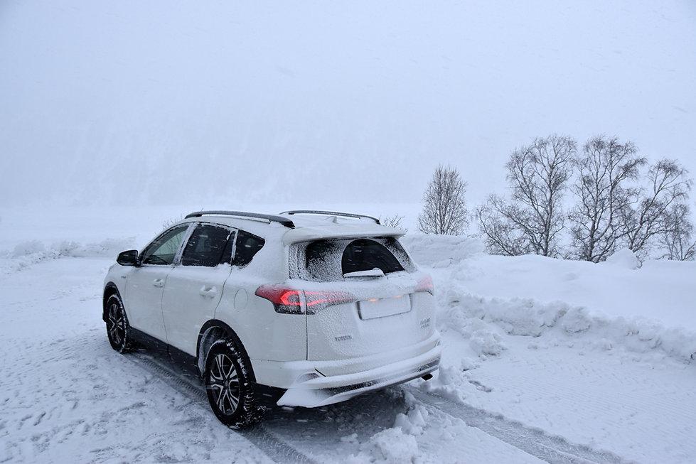 Norvège - toyota rav4 - neige hiver