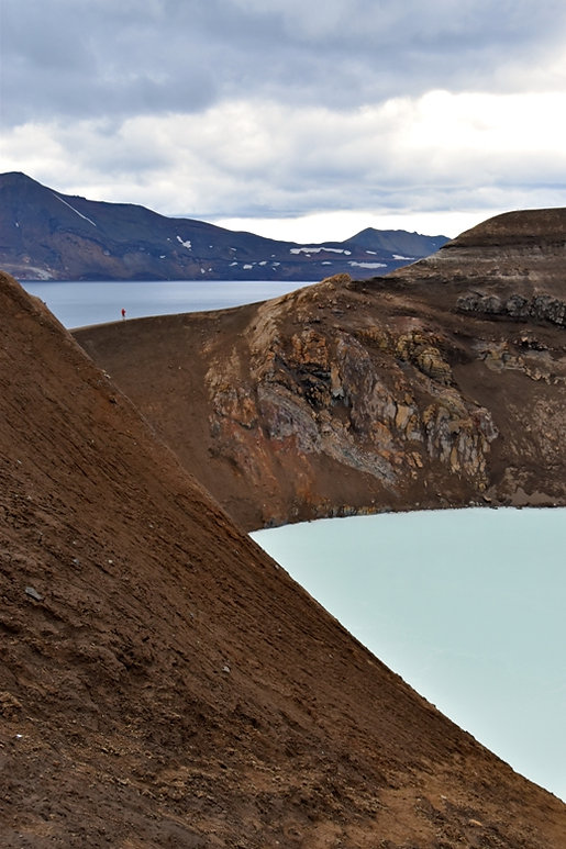 Askja caldeira volcan volcano lac viti cratère crater Oskjuvatn