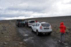 Piste F910 askja passage gué rivière noyé hautes terres islande iceland
