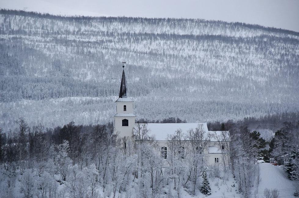 Norvège - hiver - neige - église