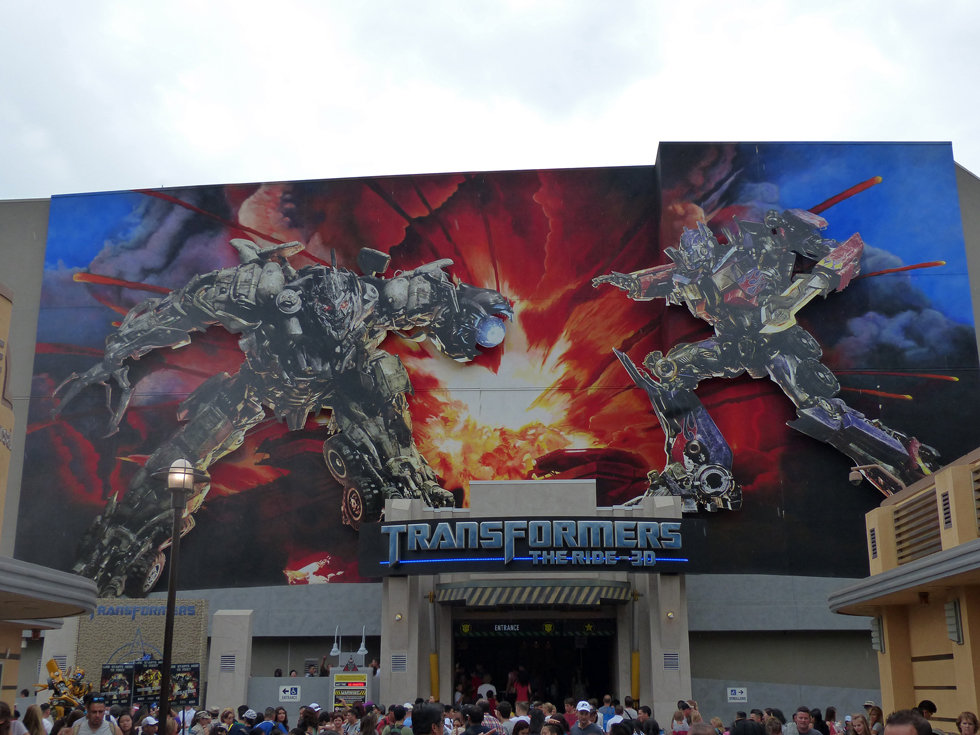 Universal Studios Hollywood Transformers the ride 3D