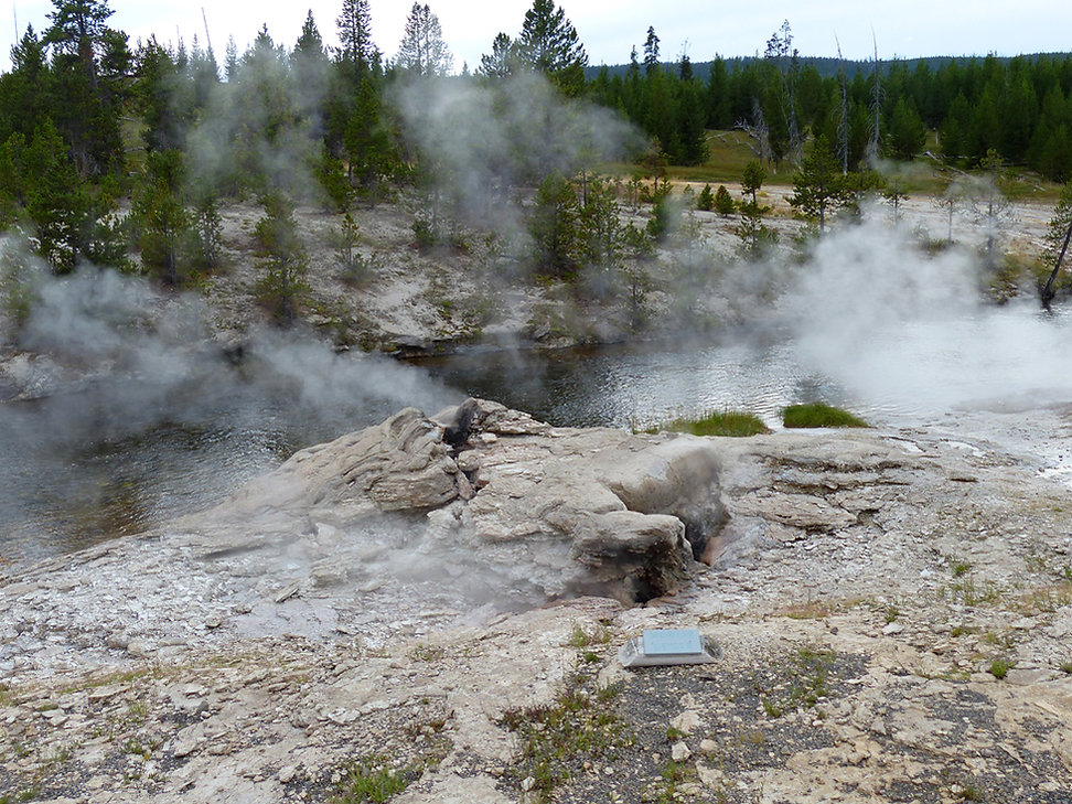 Yellowstone National Park Upper Geyser Basin Mortar Geyser