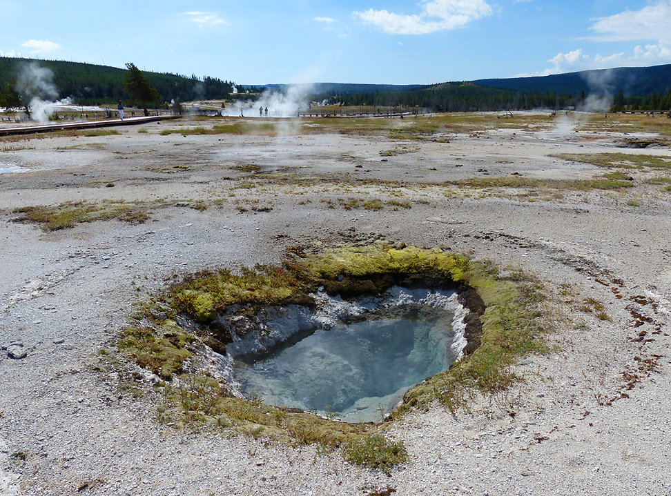 Yellowstone National Park Biscuit Basin West Mustard Spring
