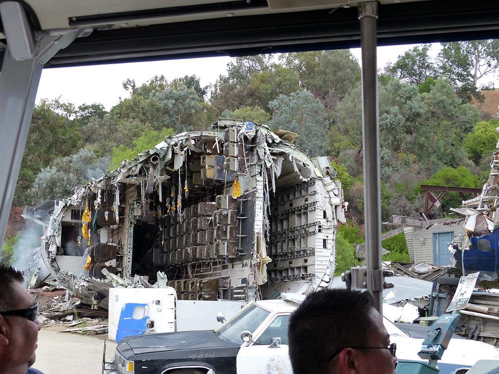 Universal Studios Hollywood studio tour la guerre des mondes boeing 747