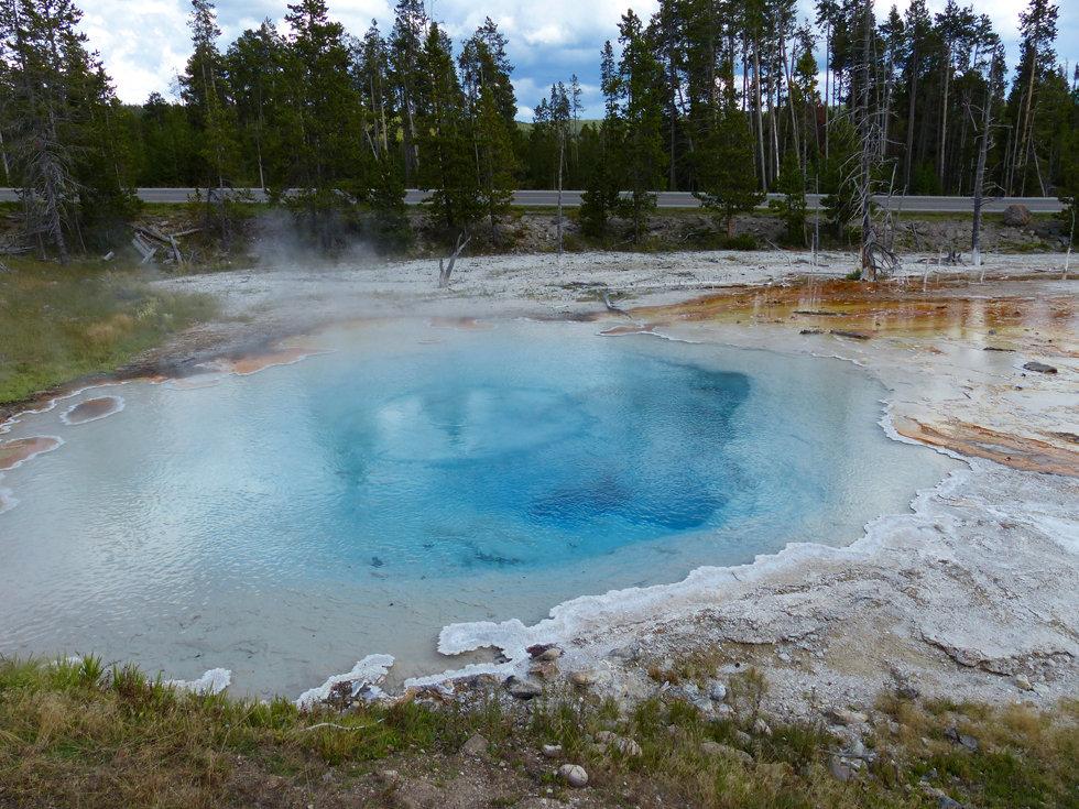 Yellowstone National Park Lower Geyser Basin Silex Spring