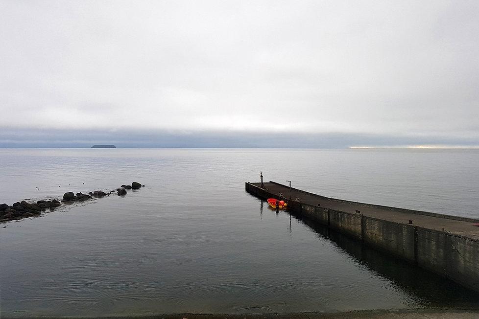 Tugulending Guesthouse panorama océan arctique jetée islande iceland