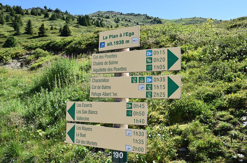 Chamonix - Aiguillette des Posettes - Plan à l'Ega