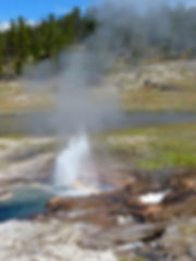 Yellowstone National Park Firehole Lake Drive Young Hopeful Geyser