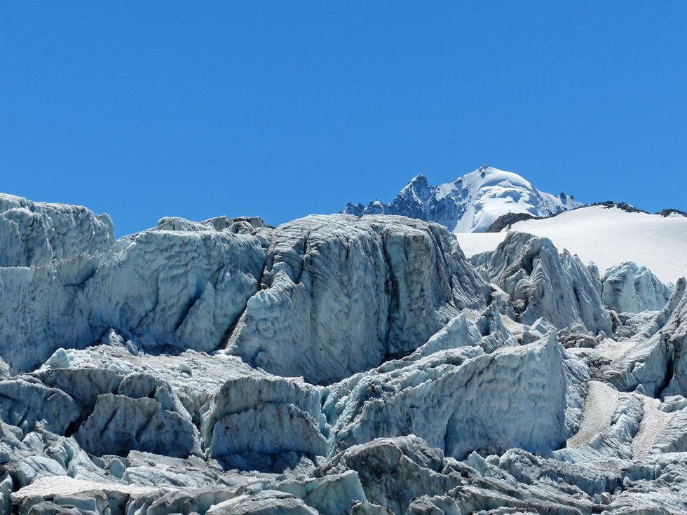Chamonix - Refuge Albert 1er - glacier du Tour - séracs