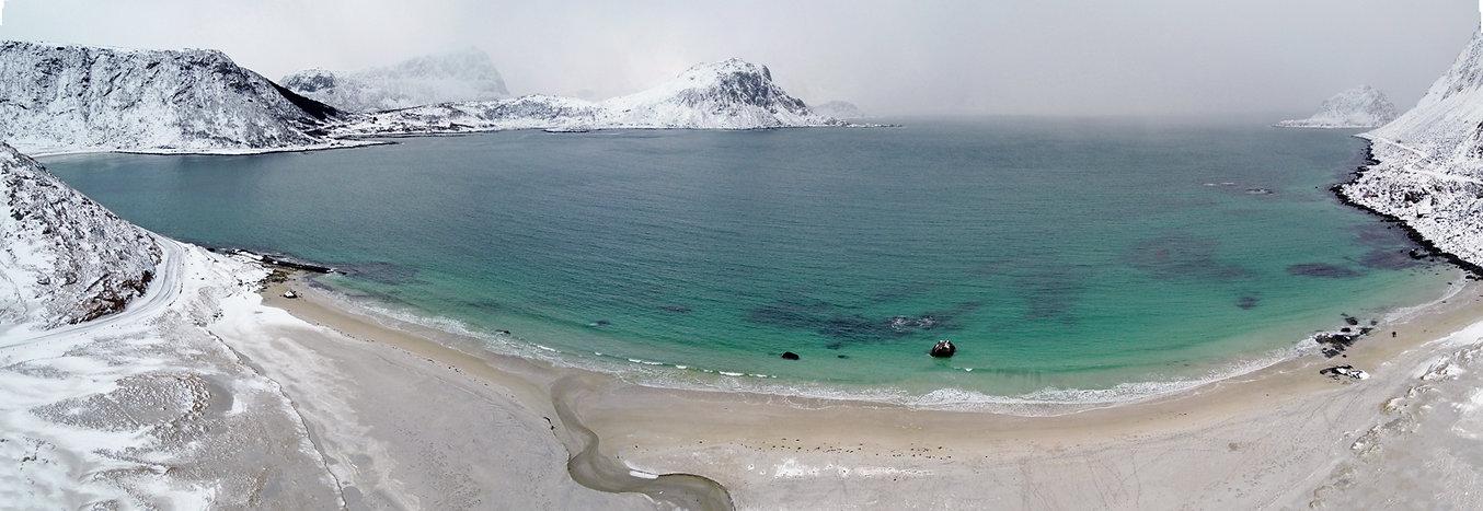 Norvège - Vestvågøya - Hauklandstranda - drone
