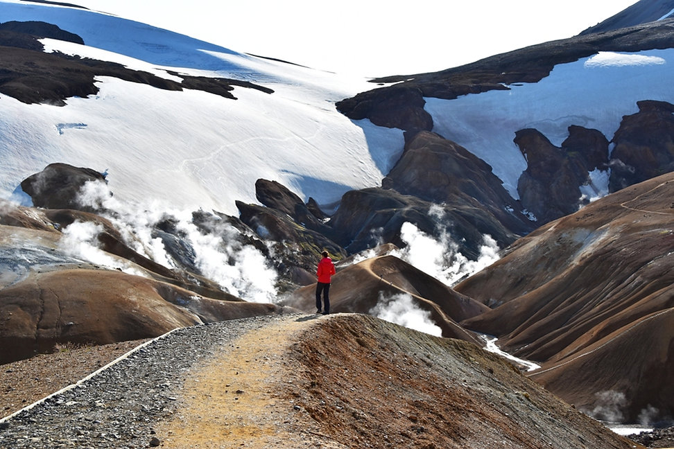 Islande massif Kerlingarfjöll fumerolles névés