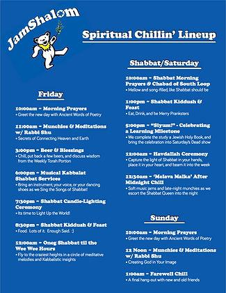 JamShalom Spiritual Chillin' Lineup