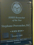 Dr. Stéphane Provencher aka Dr. Awesome awarded SORSI Researcher of the Year 2009