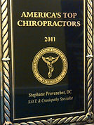 Dr. Stéphane Provencher aka Dr. Awesome awarded Chiropractor of the year 2011