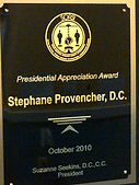 Dr. Stéphane Provencher aka Dr. Awesome awarded the Presidental Appreciation Award in 2010