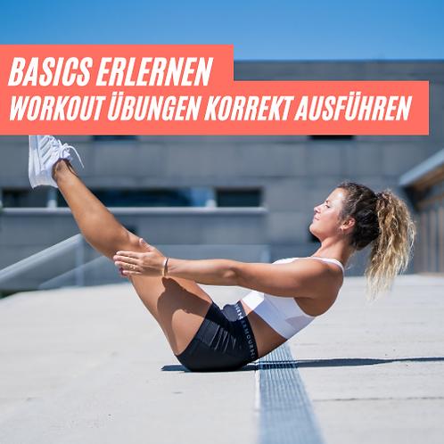 Basics erlernen - Workout Übungen korrekt ausführen