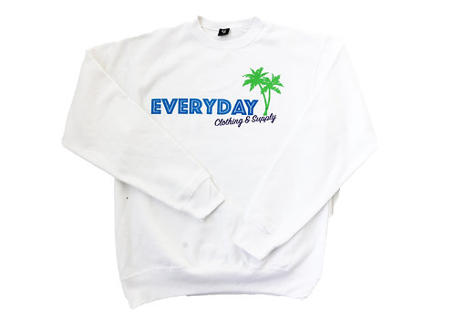Malibu Club White Sweatshirt