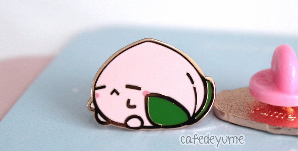Lonely Peach Bun Mini Enamel Pin