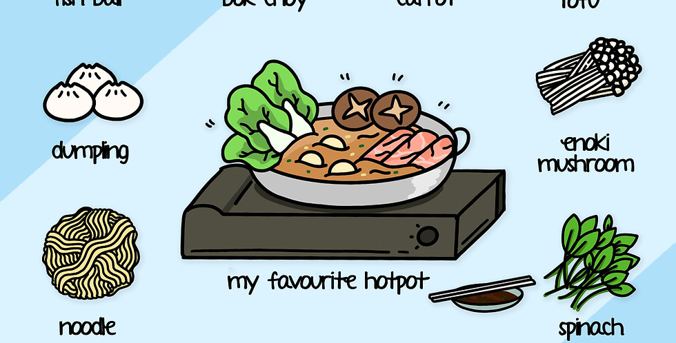 My Favourite Hot Pot Print | 8 inch