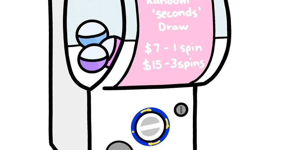 Gacha 'seconds' pin Draw