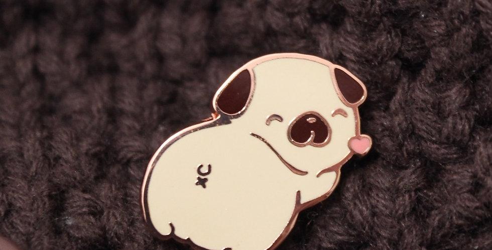 Pug Butt Enamel Pin