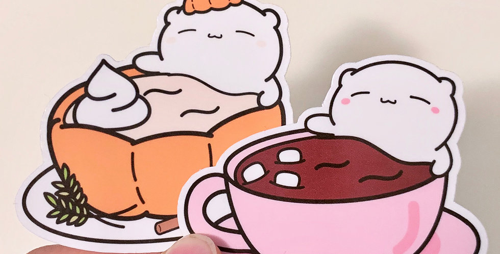 Sept 2019 - Hot Choco Beary Stickers