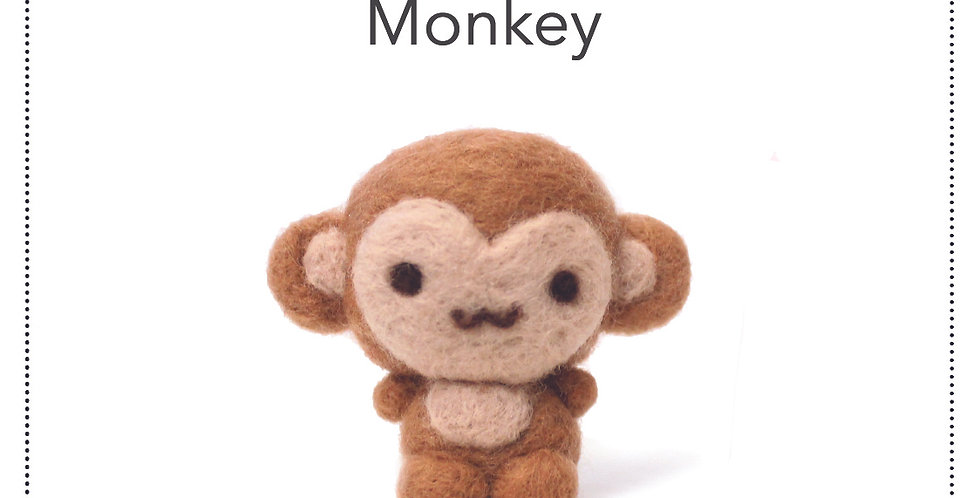 DIY Kit - Needlefelt Monkey