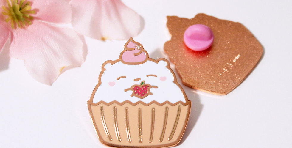 Mar 2019 - Marshmallow Cupcake Pin (B-grade only)