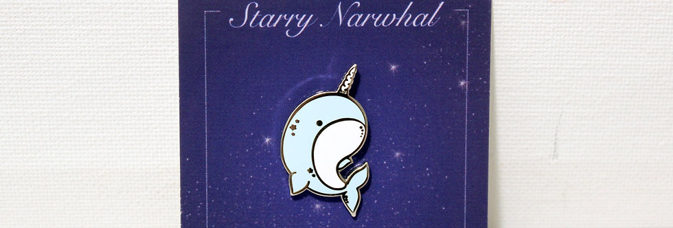 Blue Starry Narwhal Enamel Pin