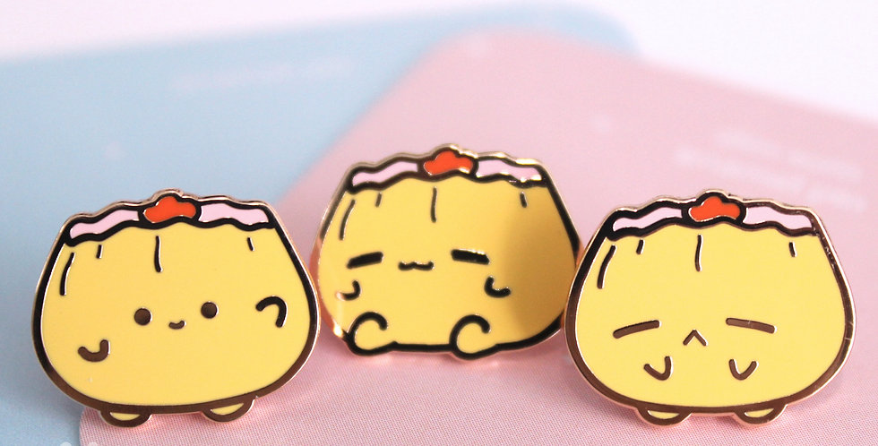 Siu Mai Buddies Mini Enamel Pin