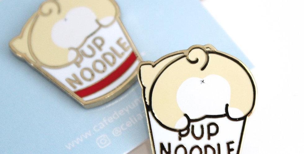 Pup Noodles Enamel Pin