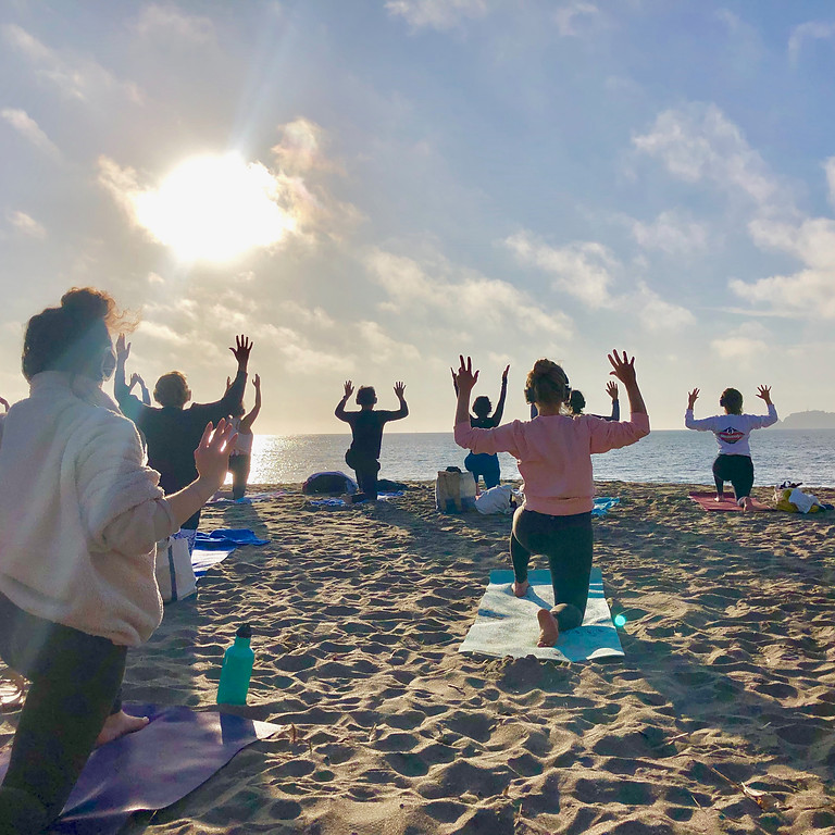 Sunset Yoga and live sound journey with Nat and Max Ribner
