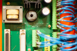 Product photography: A closeup of a circuit board for an electrical business
