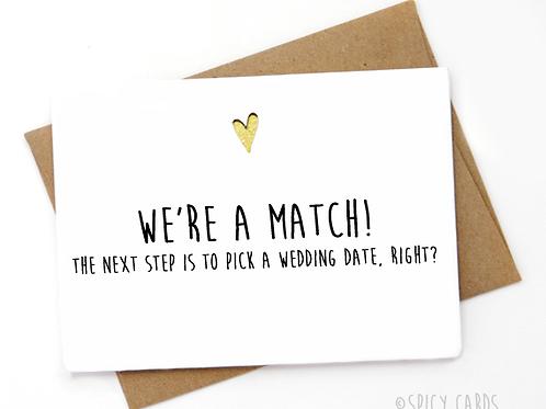Tinder- We're a match!