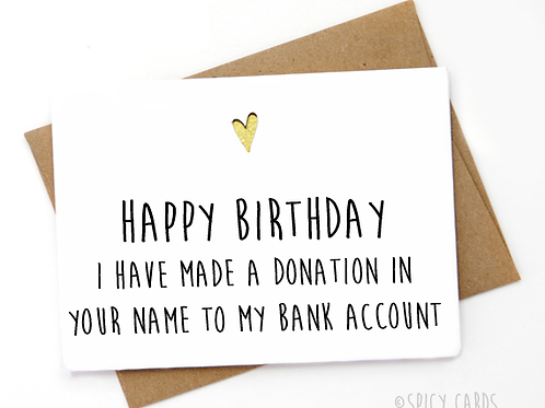Happy Birthday  I have made a donation in your name ....