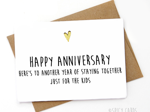Happy Anniversary Here's to another year of staying together just for ...
