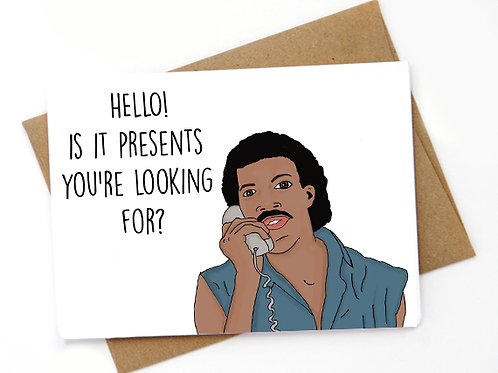Lionel Richie - Hello is it presents you're look..