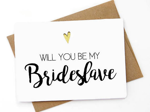 Will You Be My Brideslave