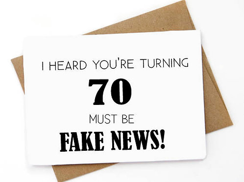 70 Must be fake news