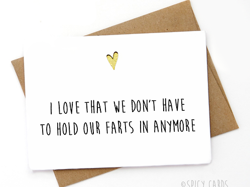 I love that we don't have to hold our farts in anymore