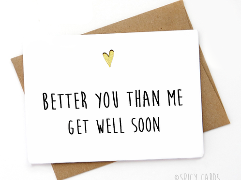 Better you than me. Get well soon