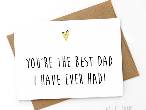 You're the best dad i have ever had!