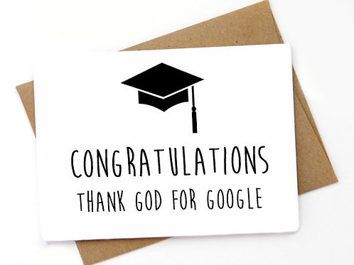 Congratulations thank god for google
