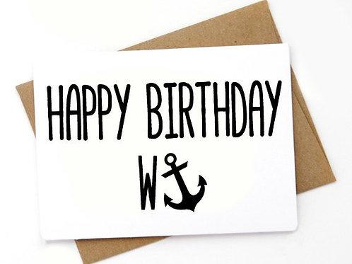 Happy Birthday Wanker