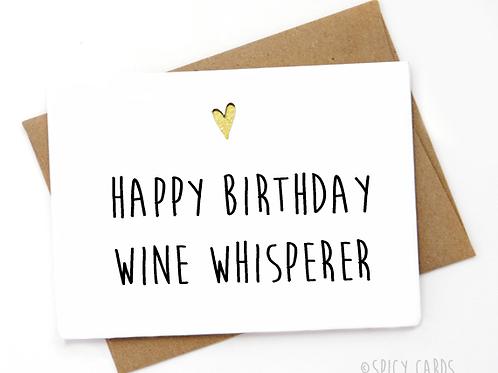 Happy Birthday Wine Whisperer