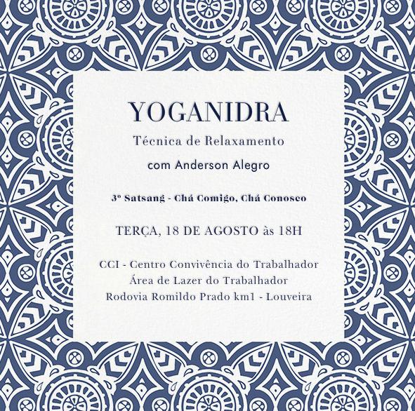3º Satsang - YOGANIDRA
